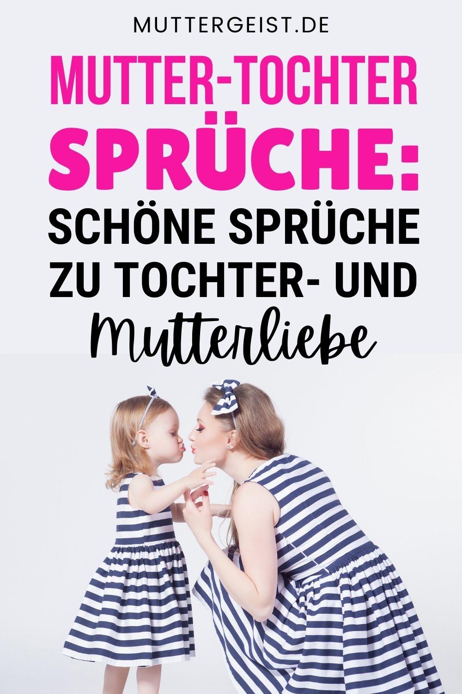 Mutter-Tochter-Sprüche - Schöne Sprüche Zu Tochter- Und Mutterliebe Pinterest