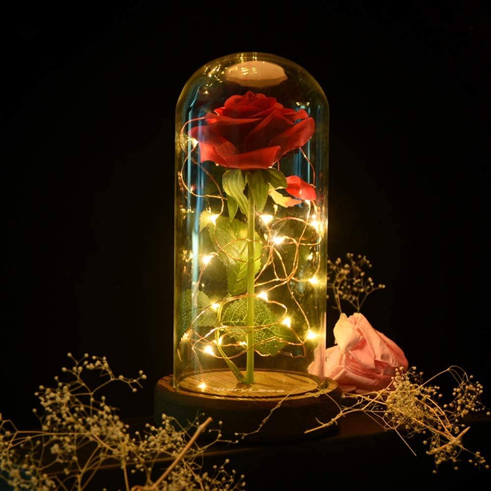 shirylzee Ewige Rose im Glas