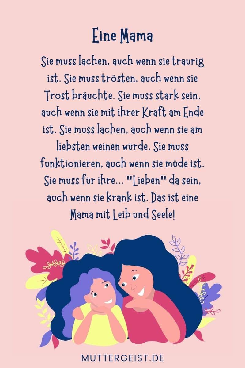 Geburtstag zum ein für mama gedicht Geburtstagstexte für