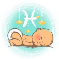 Tierkreiszeichen Fische Baby Abbildung