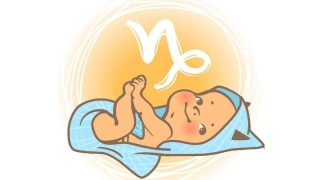 Tierkreiszeichen Steinbock Baby Abbildung