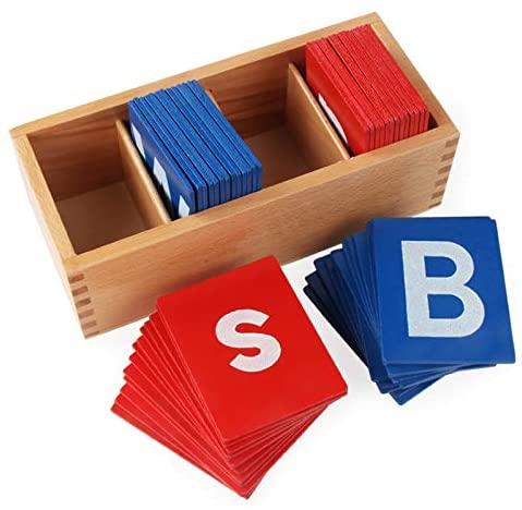 Buchstaben sensorische Sandpapier