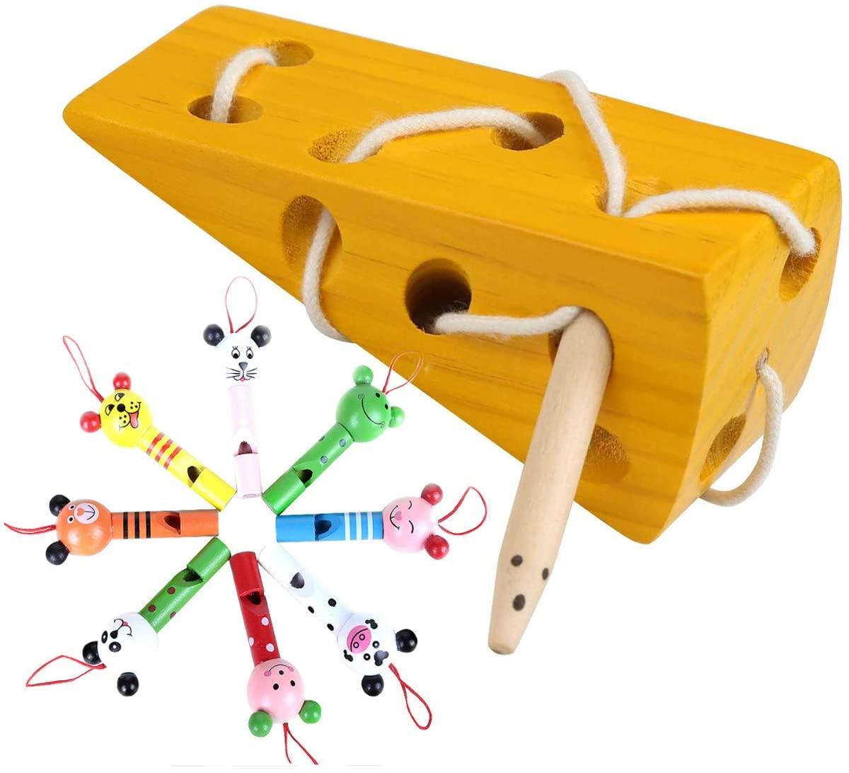 Mengger Holzkäsespielzeug Fädelspiel