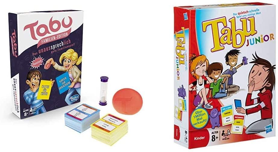 Tabu Junior und Familienspiel