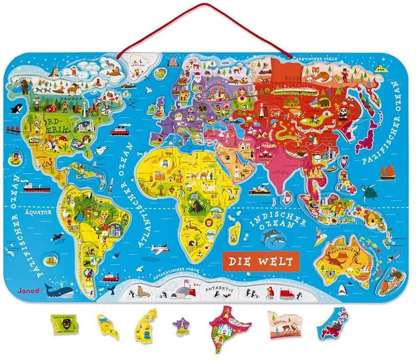 Janod Puzzle Weltkarte
