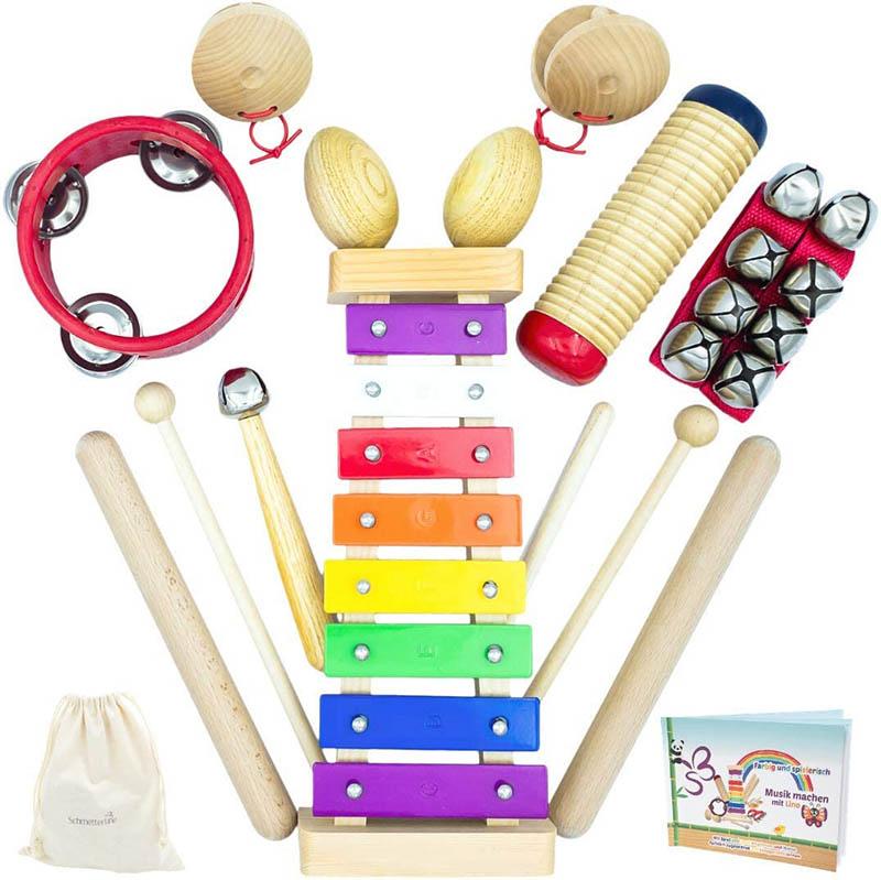 SCHMETTERLINE Musikinstrumente-Set aus Holz
