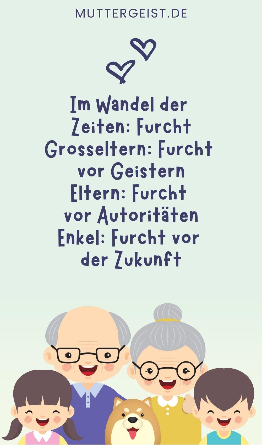 """Großeltern-Sprüche - Aphorismenreihe """"Im Wandel der Zeiten"""" von Willy Meurer"""