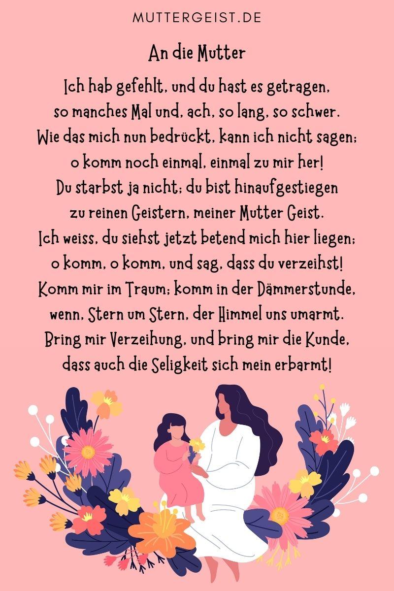 Schöne Gedichte über Mutter