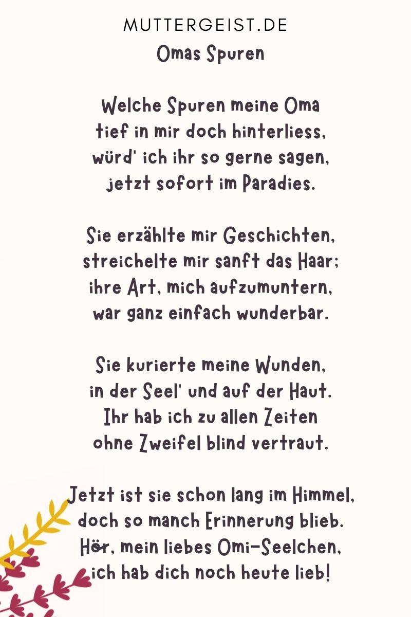 Gedicht für Oma