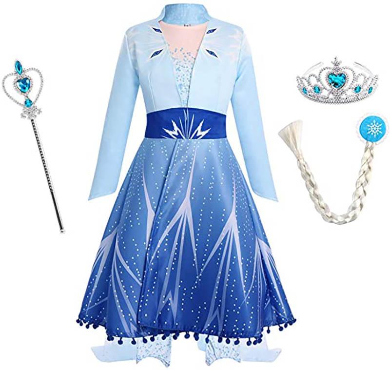 IWEMEK ELSA Prinzessin Kostüm