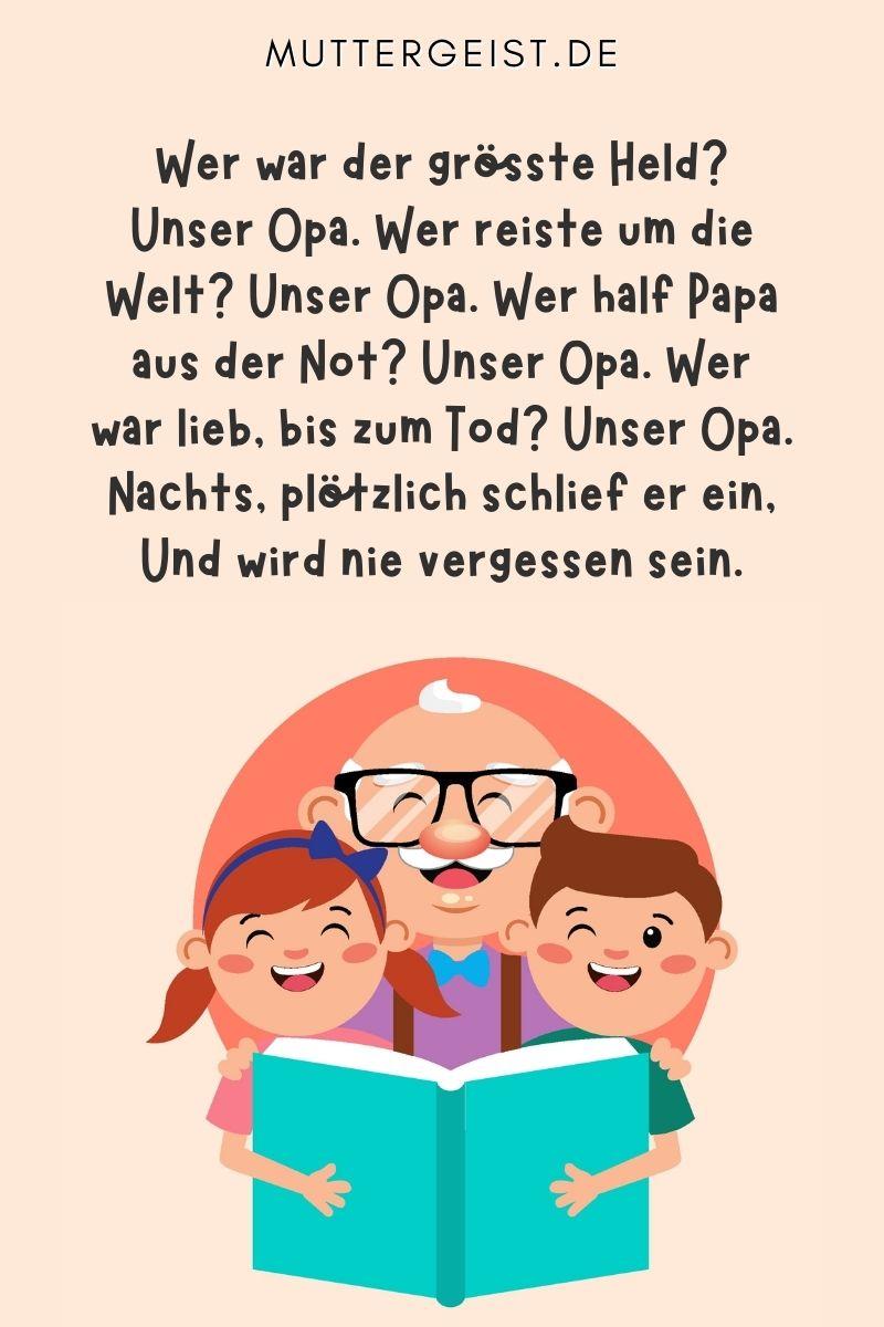 Opa-Papa Sprüche traurig - Trauersprüche