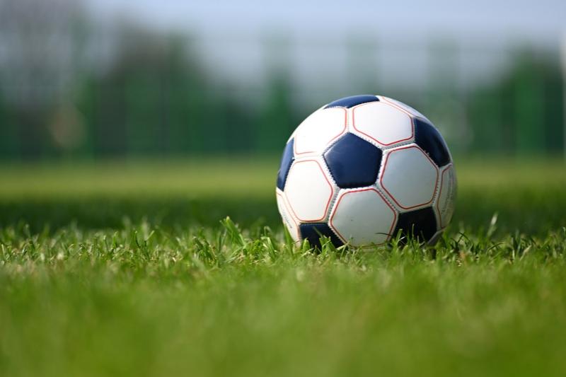 Fußball auf dem grünen Gras