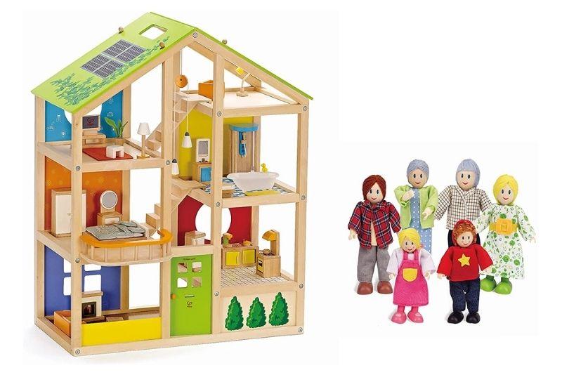 Hape E3401 Vierjahreszeitenhaus & E3500 Puppenfamilie