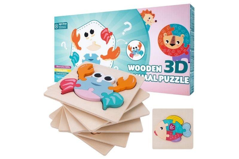Holzpuzzle Kinderspielzeug nach Montessori