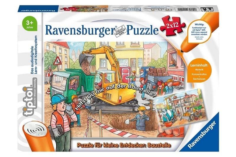 Ravensburger tiptoi Spiel 00049 Puzzle für kleine Entdecker Baustelle