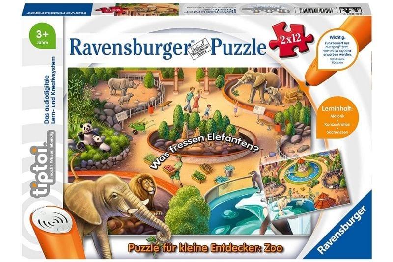Ravensburger tiptoi Spiel 00051 Puzzle für kleine Entdecker Zoo