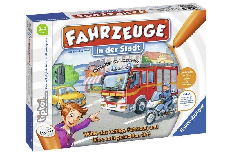 Ravensburger tiptoi Spiel 00848 Fahrzeuge in der Stadt