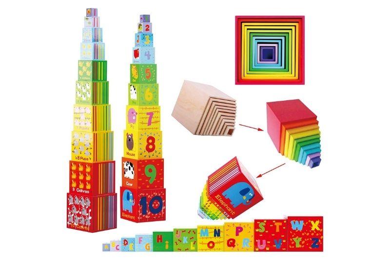 Toys of Wood Oxford Stapelturm aus Holz