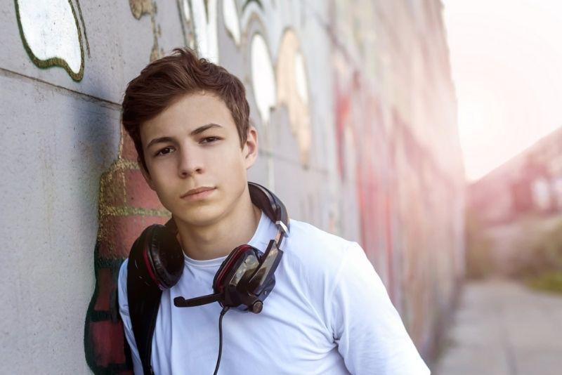 Stilvoller junger Teenager