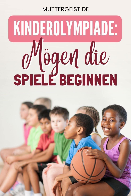 Kinderolympiade – Mögen Die Spiele Beginnen Pinterest